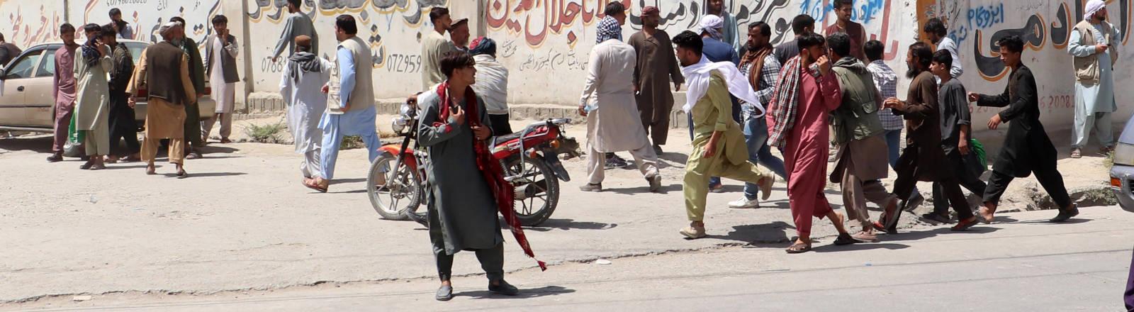 Eine Straßenszene aus Kabul