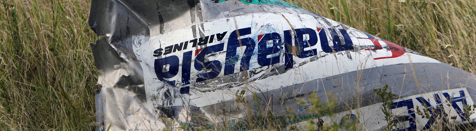Ein Teil des Malaysian-Airline-Linienflugs MH17