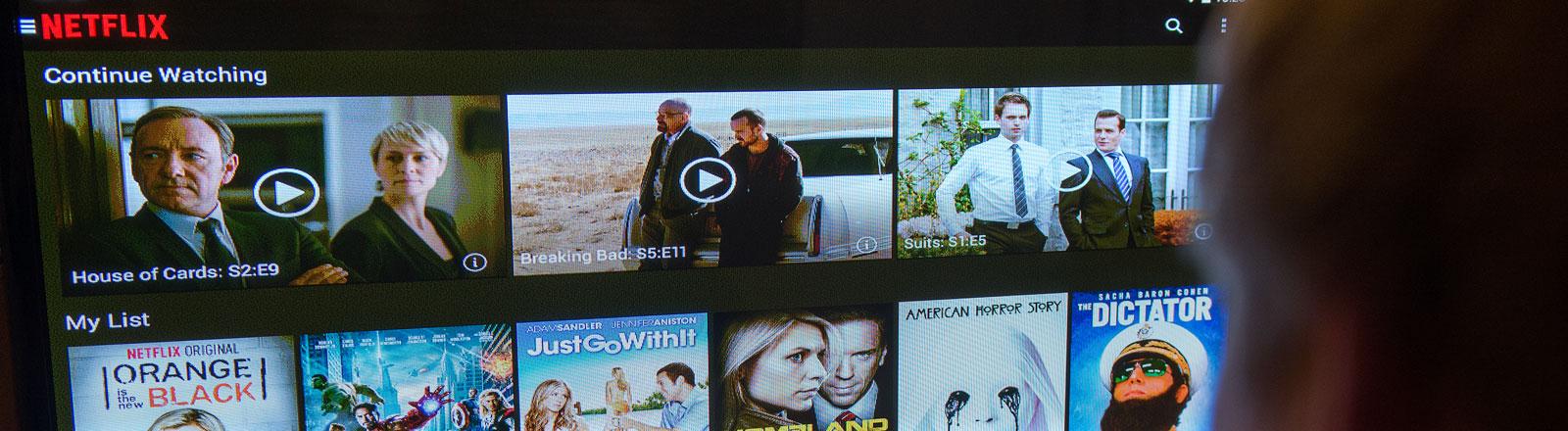 Das Videostreamingportal Netflix.