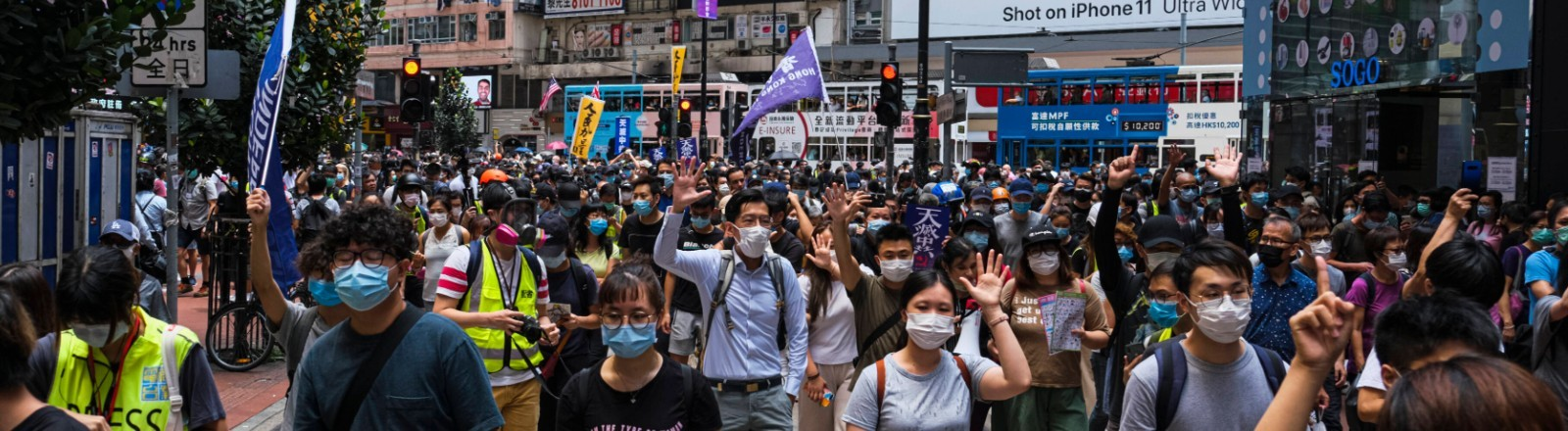 Protest in Hongkong am 24.05.2020