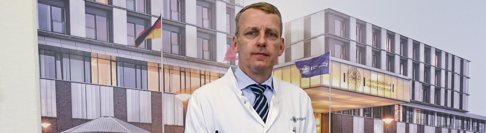 Stefan Kluge, leitet die Klinik für Intensivmedizin am Universitätsklinikum Eppendorf