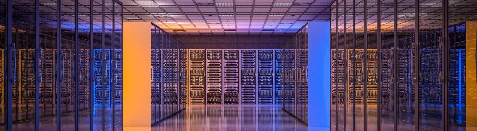 Symbolbild eines Serverreaums