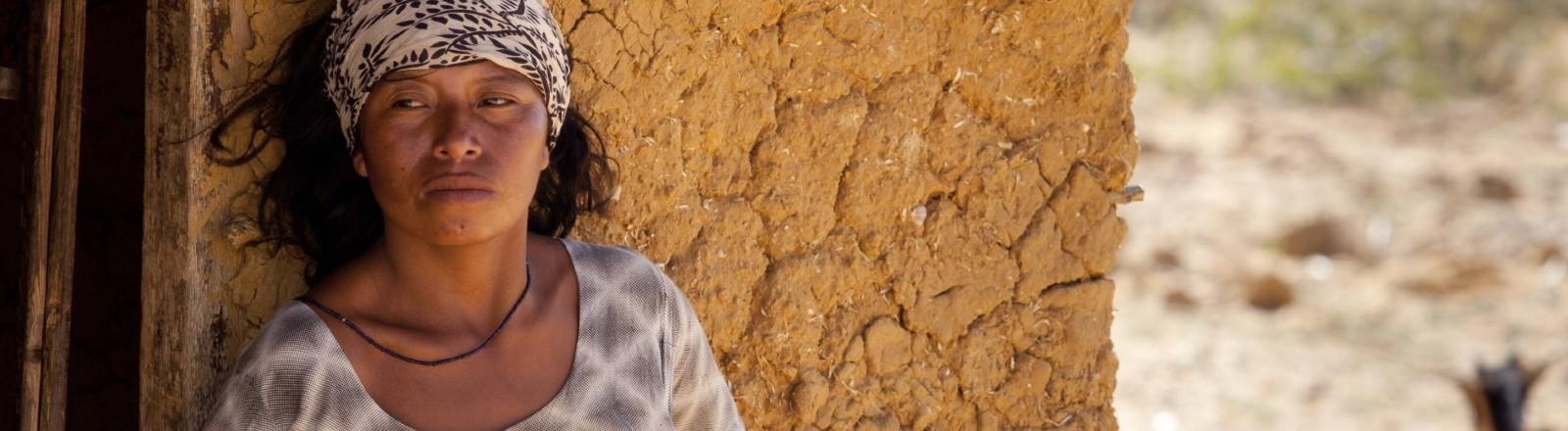 Eine Frau des indigenen Volkes der Wayuu