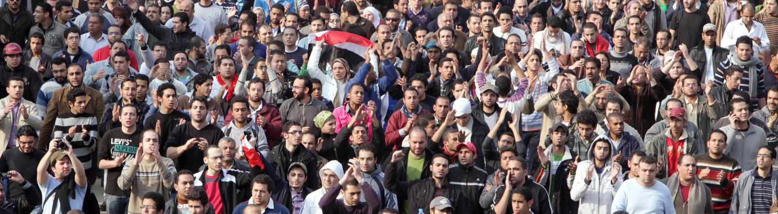 Proteste in Kairo am 25.01.2011