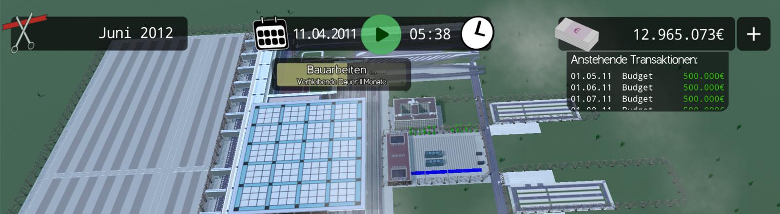 """Screenshot """"BER Bausimulator"""""""