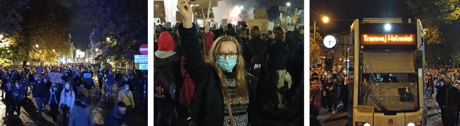 Lidia Hutniczak, Studentin, demonstriert gegen die Regierung