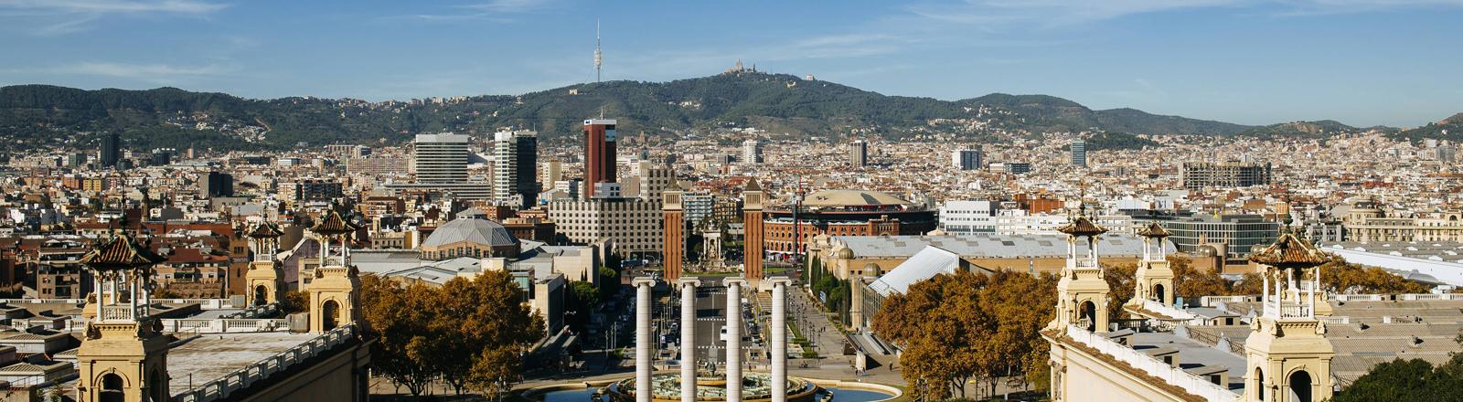 Stadtansicht von Barcelona