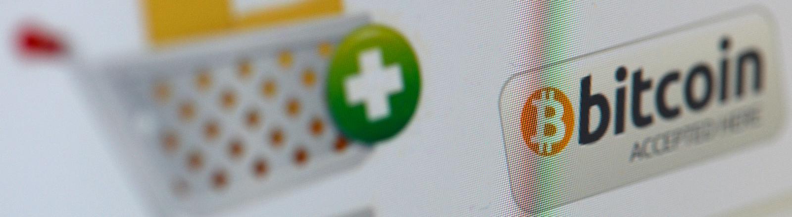 Auf einer Website wird am 06.11.2013 in Berlin die virtuelle Währung Bitcoin als Zahlungsmittel für den elektronischen Handel, den sogenannten E-Commerce, vorgestellt.