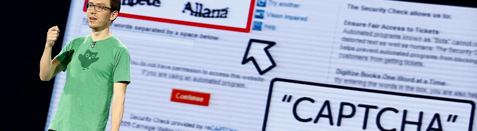 Luis von Ahn, Co-founder und CEO of Duolingo und Erfinder von reCAPTCHA