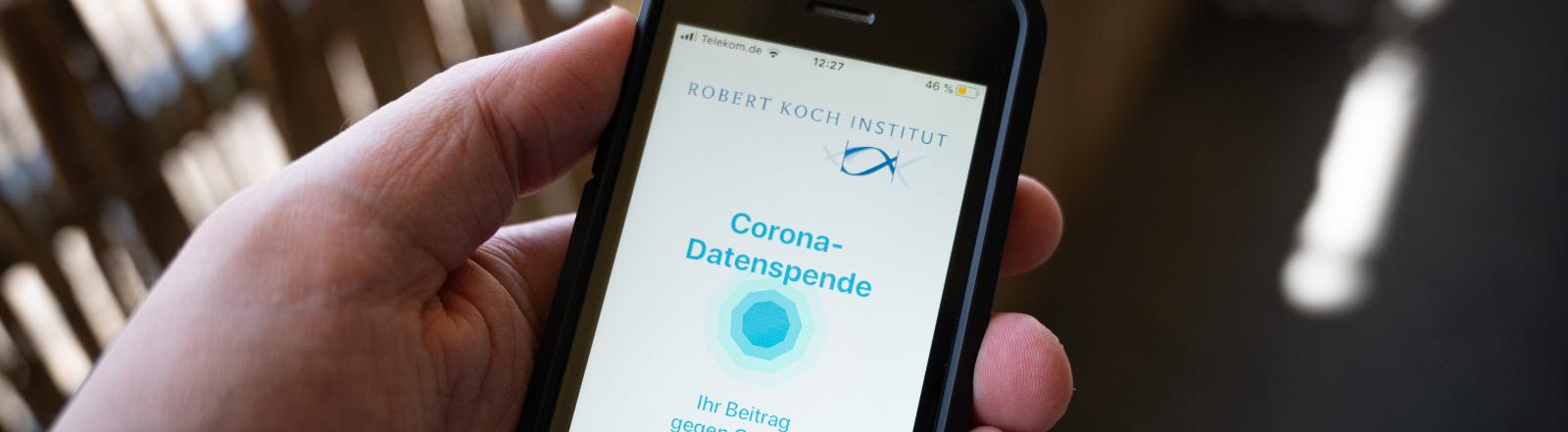 Nutzer der Datenspende-App des RKI