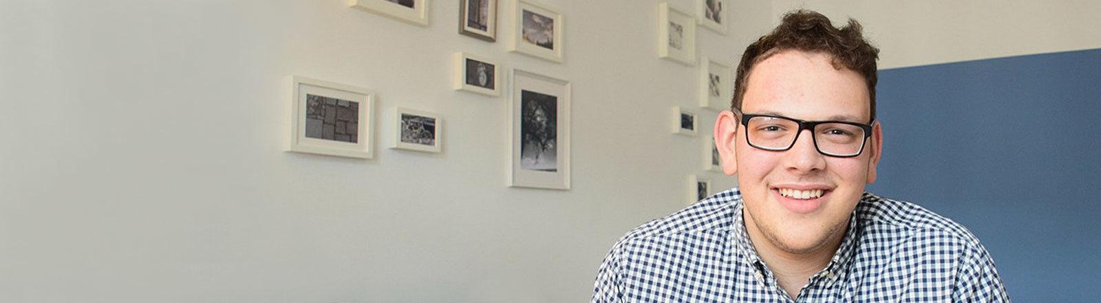 Dow Michael Glikman, Student an der HU Berlin und Mitglied der Jüdischen Studierendenunion Deutschland