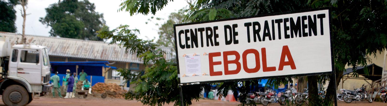 Ein Zentrum zur Behandlung von Ebola in Gueckedou, Guinea