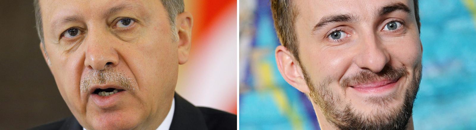 Recep Tayyip Erdoğan und Jan Böhmermann