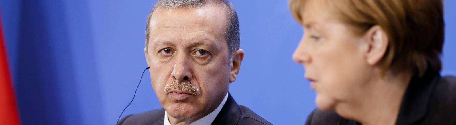 Recep Tayyip Erdoğan und Angela Merkel
