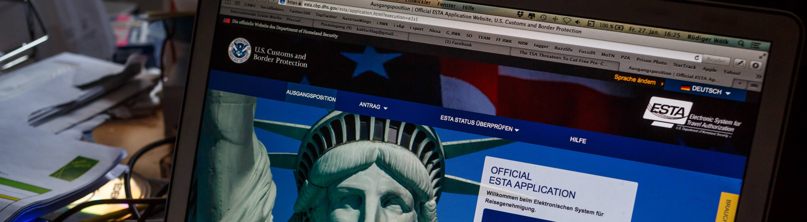 Elektronisches System zur Einreise in die USA (Esta)