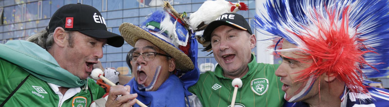 Irische und französische Fans