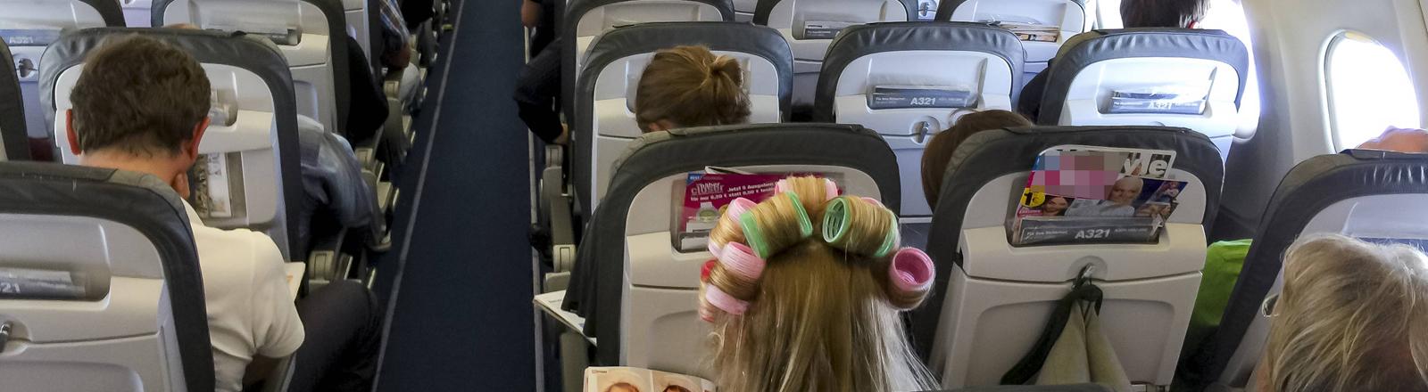 Die Kabine eines Flugzeugs