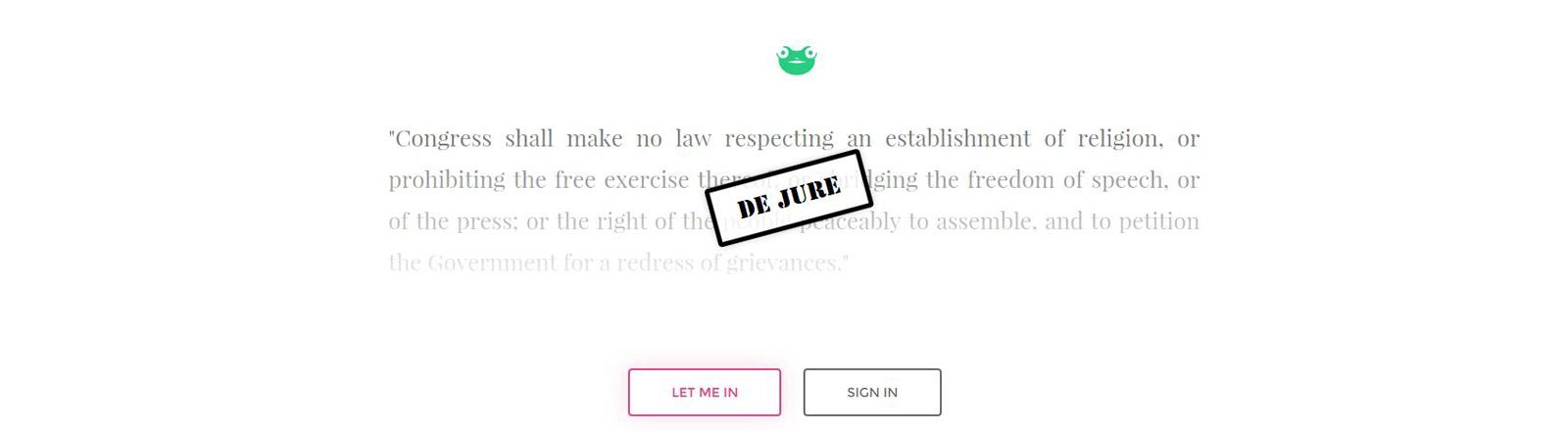 Screensgot der Seite Gab.ai