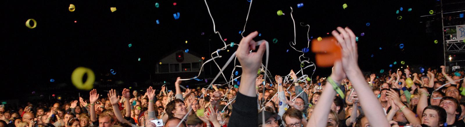 Zuschauer beim Pop-Festival in Haldern