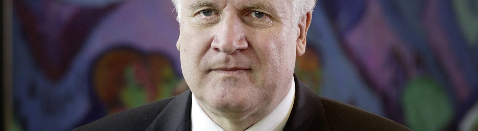 Horst Seehofer – damals Bundeslandwirtschaftsminister – vor einer Kabinettssitzung am 7.10.2008