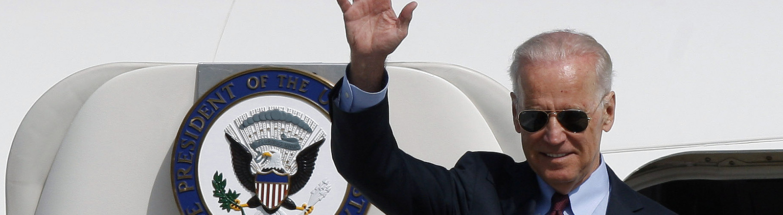 US-Vizepräsident Joe Biden am Flughafen Boryspil in Kiew
