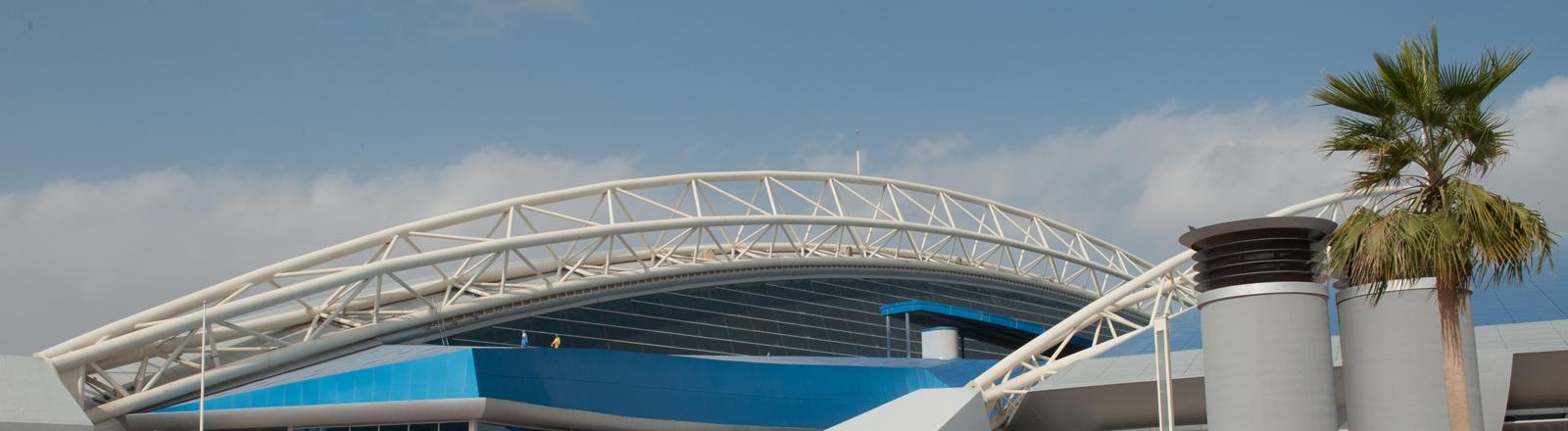 Das Aspire-Sportgelände in Doha (Katar), aufgenommen am 09.01.2013.