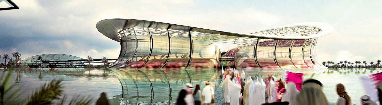 Skizze des WM-Stadios in Katar