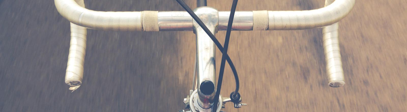 Der Lenker eines Fahrrads