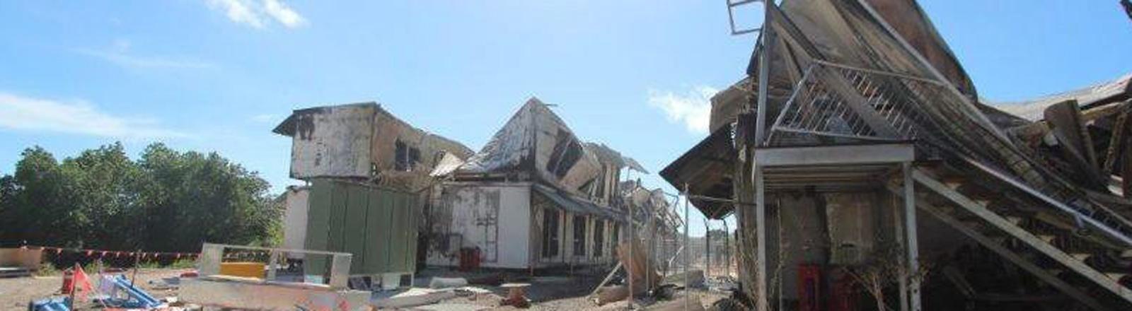 Demoliertes Flüchtlingslager auf Nauru