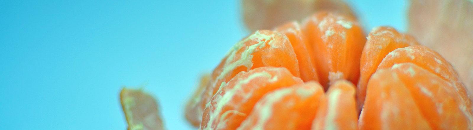 Ein geschälte Orange