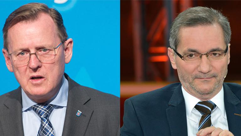 Die Schlichter bei den Verhandlungen zwischen Bahn und GDL: Platzeck und Ramelow