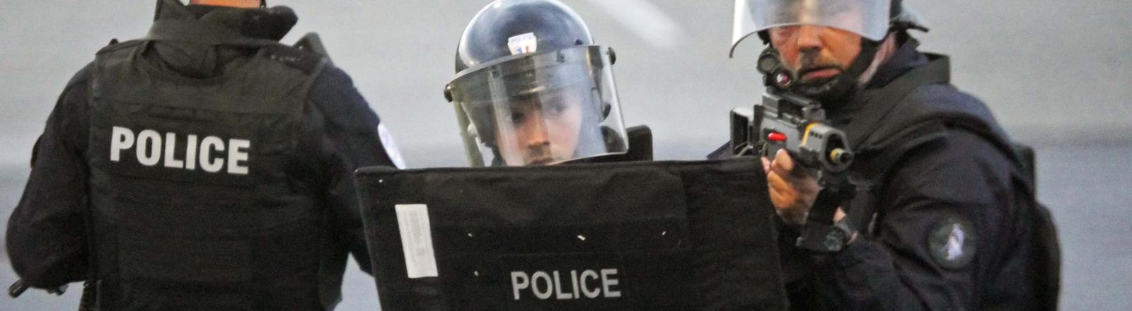 Polizisten bei einer Antiterrorübung in Frankreich