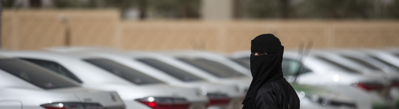 Verschleierte Frau in Saudi-Arabien