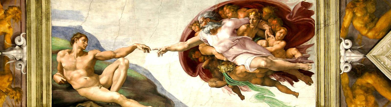 Das Fresco in der Sixtinischen Kapelle