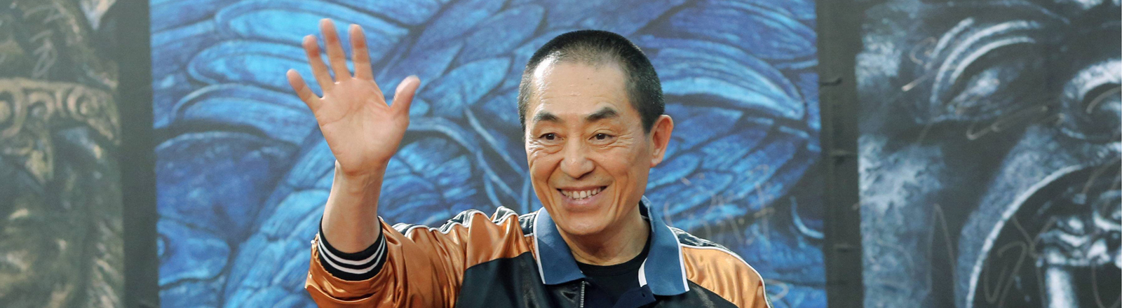 "Regisseur  Zhang Yimou bei einer Pressekonferenz zu ""The Great Wall"""