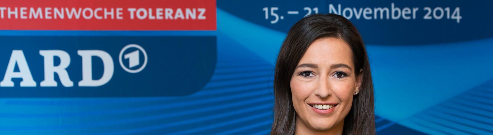 Tagesthemen-Moderatorin und Themenpatin Pinar Atalay / Pressekonferenz anlaesslich der ARD-Themenwoche zum Thema Toleranz / Muenchen / 06.10.2014