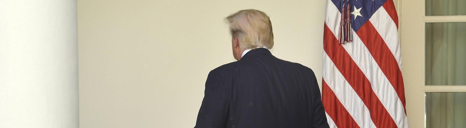 Donald Trump verlässt die Bühne