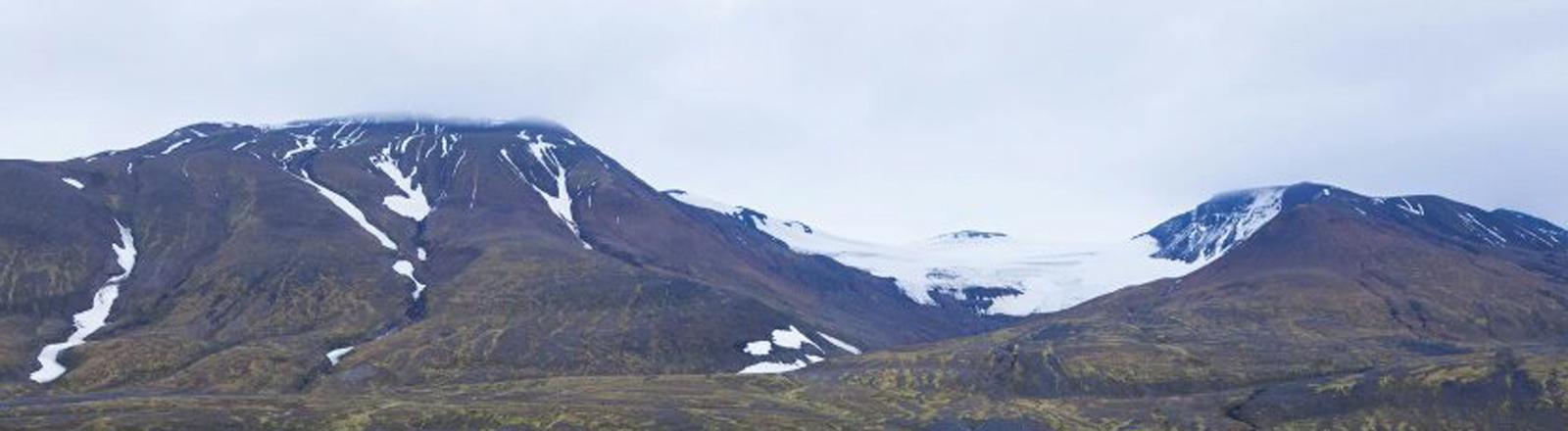 Warnhinweis am Vattnajokull-Gletscher in Island