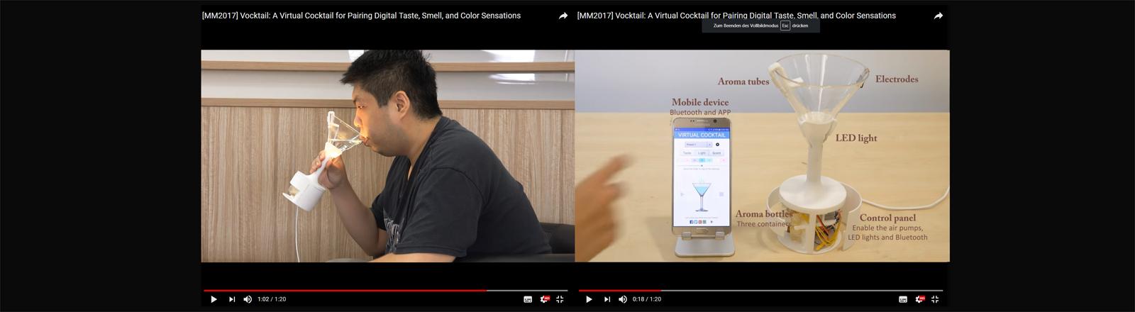 Standbilder aus dem Vocktail-Video des Entwicklers Nimesha Ranasinghe