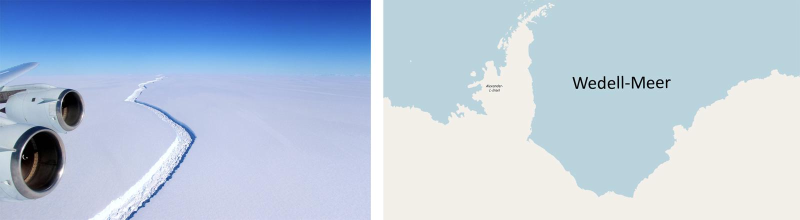 Rund 2,8 Millionen Quadratkilometer groß: das Wedell-Meer in der Antarktis