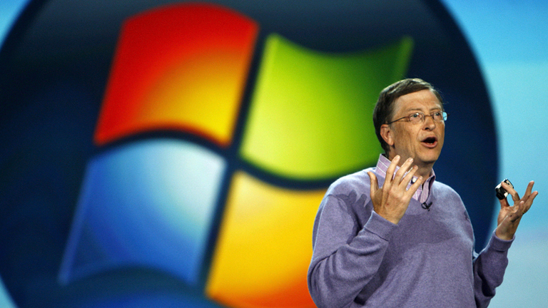 Bill Gates bei der Consumer Electronics Show (CES) in Las Vegas, Nevada am 06 Januar 2008.