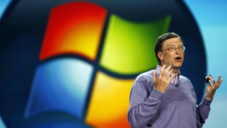 Bill Gates bei der Consumer Electronics Show (CES) in Las Vegas, Nevada am 06 Januar 2008.