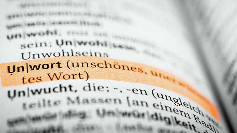 """Der Dudeneintrag zum Begriff """"Unwort""""."""