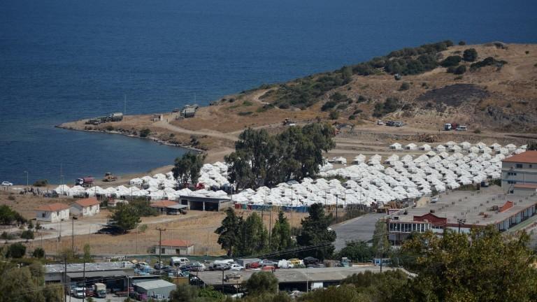 Das neue Übergangslager Kara Tepe auf der Insel Lesbos.