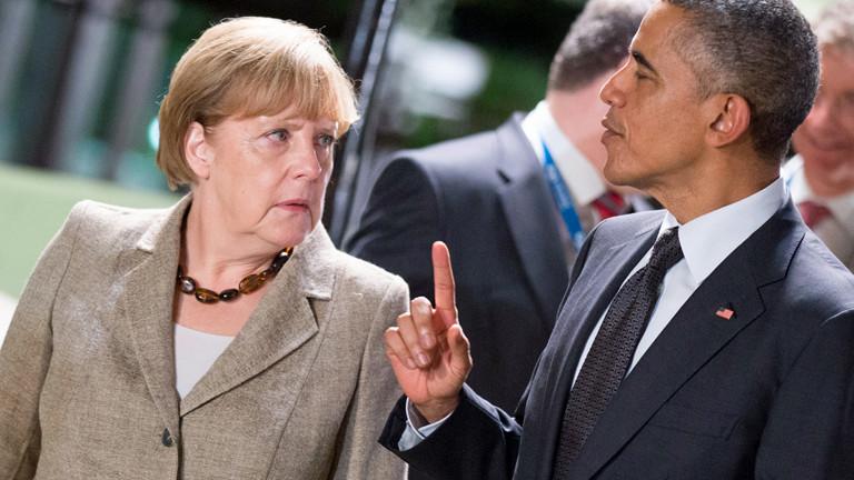 Auf dem G-20-Gipfel im australischen Brisbane treffen am 16.11.2014 Barack Obama und Angela Merkel zusammen.