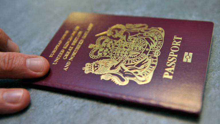 Ein Pass aus Großbritannien.