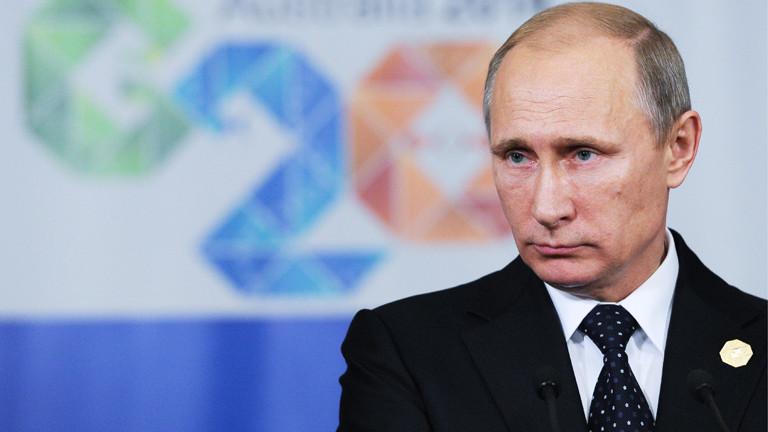 Wladimir Putin auf dem G-20-Gipfel in Brisbane am 15.11.2014.