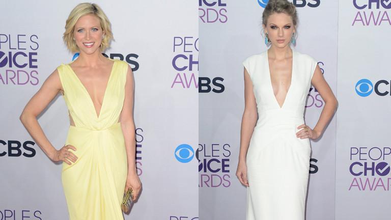 Brittany Snow und Taylor Swift in hübschen Kleidern bei den Peoples Choice Awards.