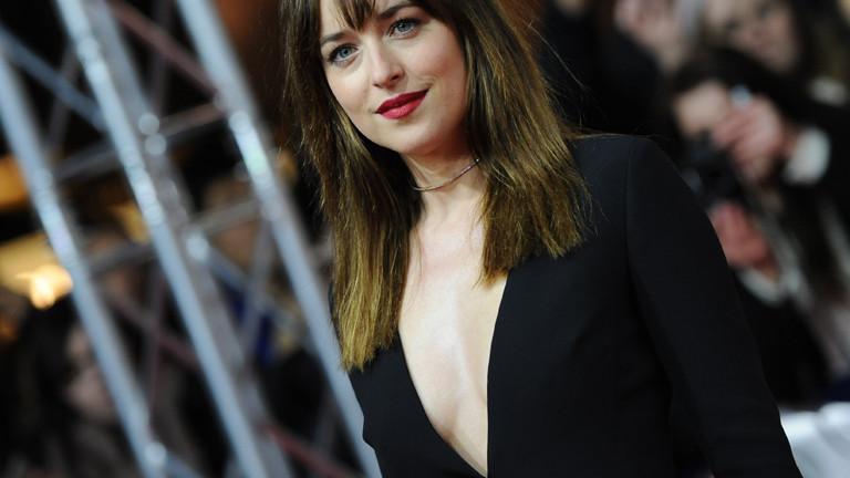 """Schauspielerin Dakota Johnson kommt am 11.02.2015 in Berlin während der 65. Internationalen Filmfestspiele zur Weltpremiere des Films """"Fifty Shades of Grey""""."""