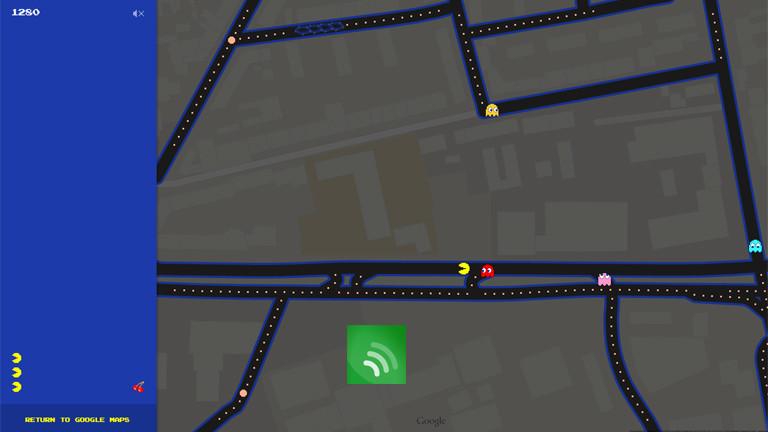 Googlemaps bietet eine Pacman-Funktion an.